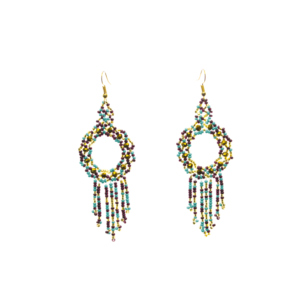 Dreamer Earrings in Rough Turquoise - Josephine Alexander Collective
