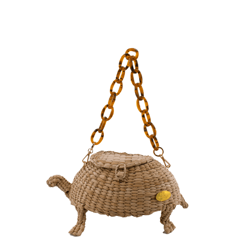 Wild Thing- Teddy the Turtle Straw Bag - Josephine Alexander Collective