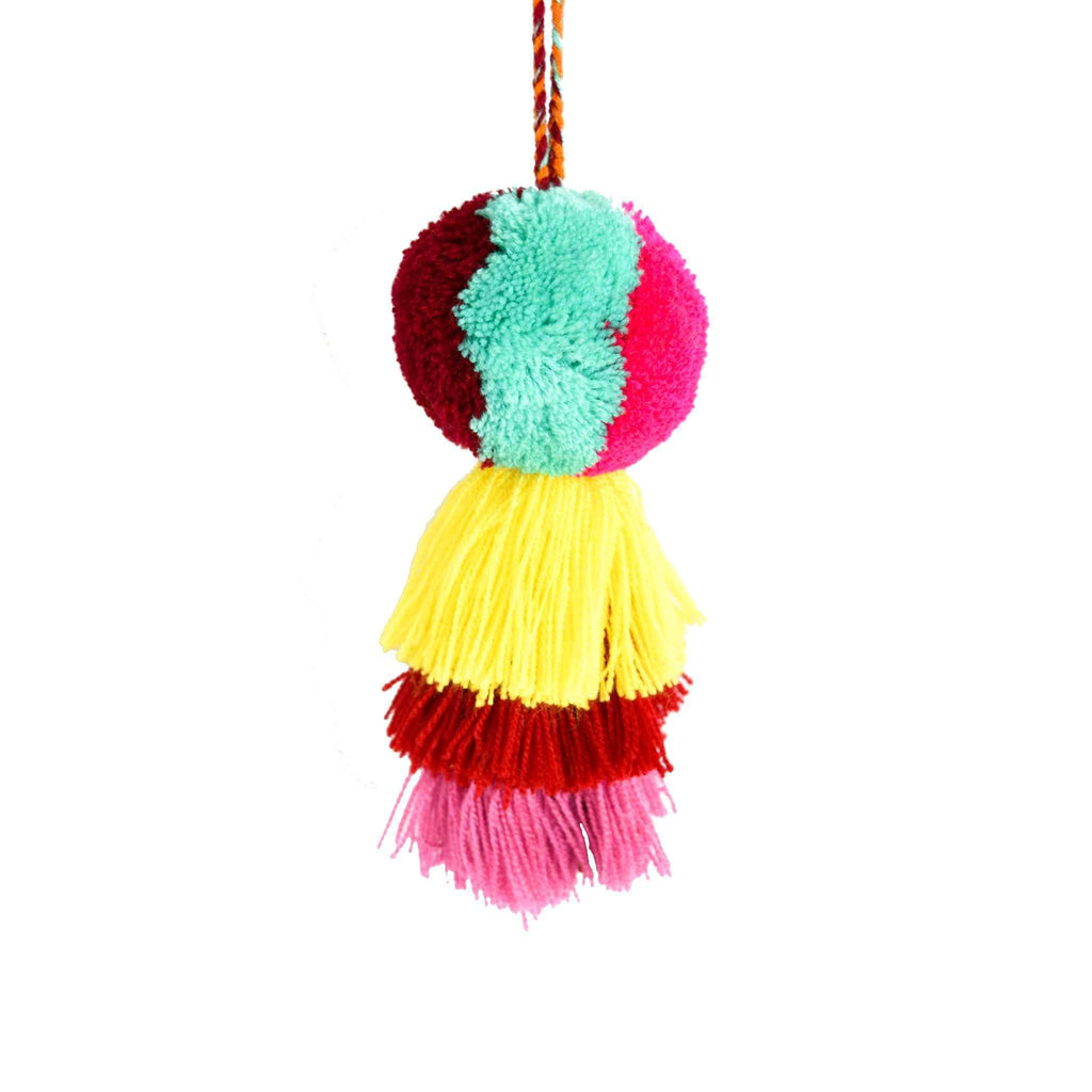 Medium Pom Tassel in Vanilla Mint - Josephine Alexander Collective