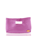 Alison Woven Clutch in Violet