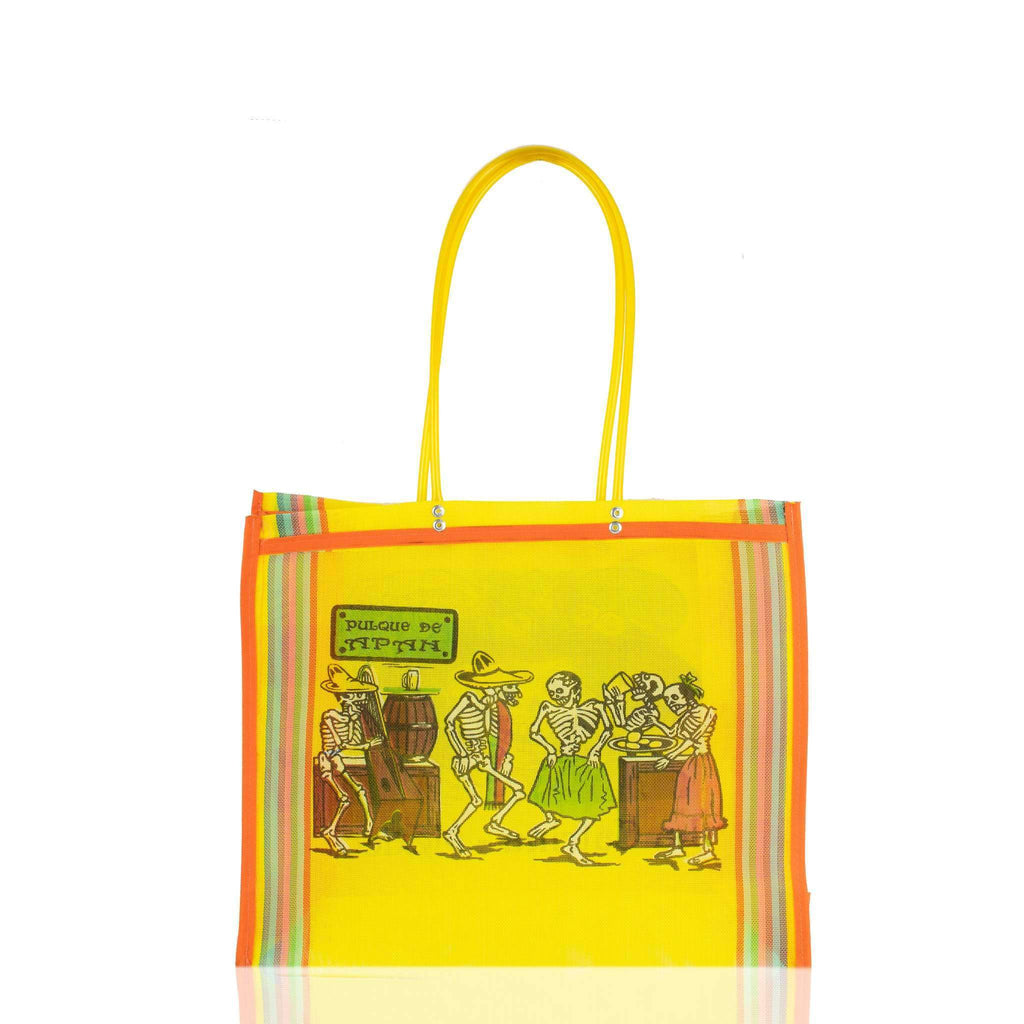 Dia de Muertos Market Bag in Yellow