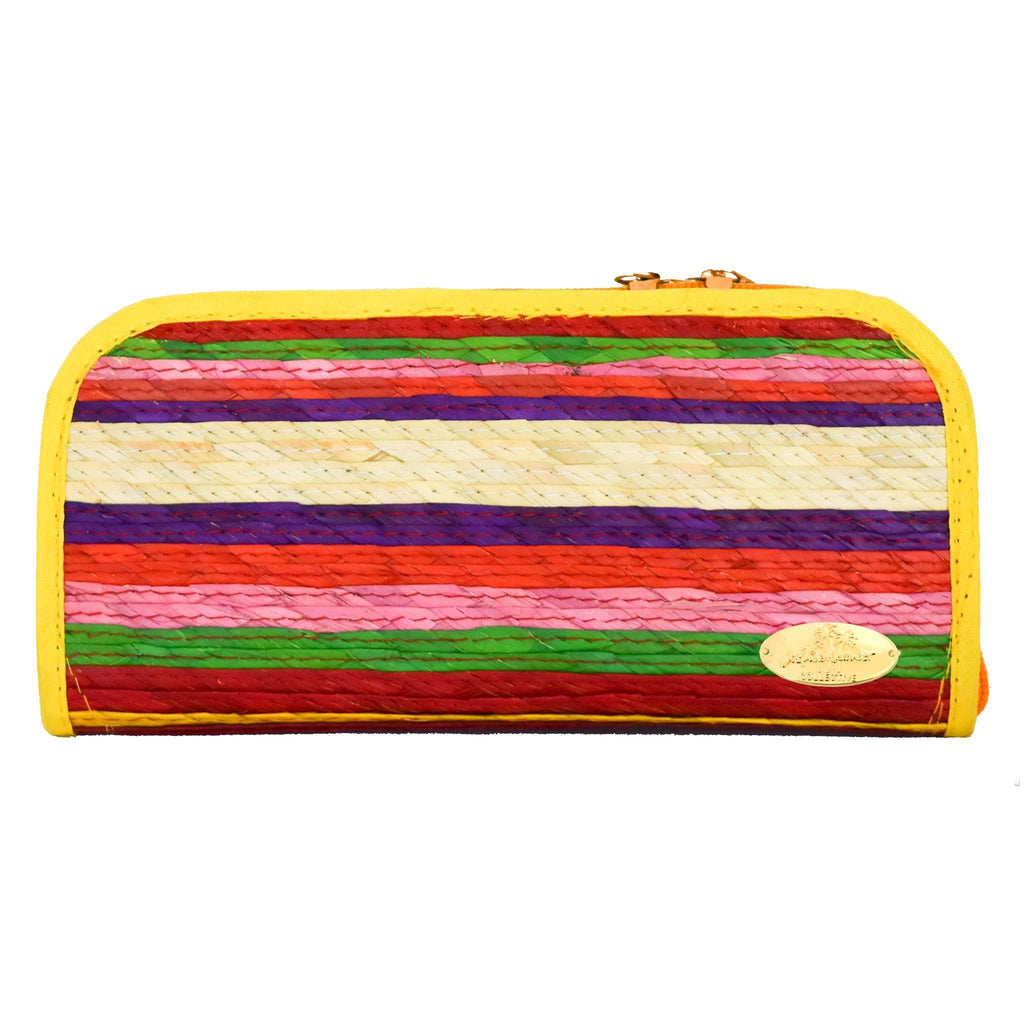 Cancun Straw Wallet in Pineapple - Josephine Alexander Collective
