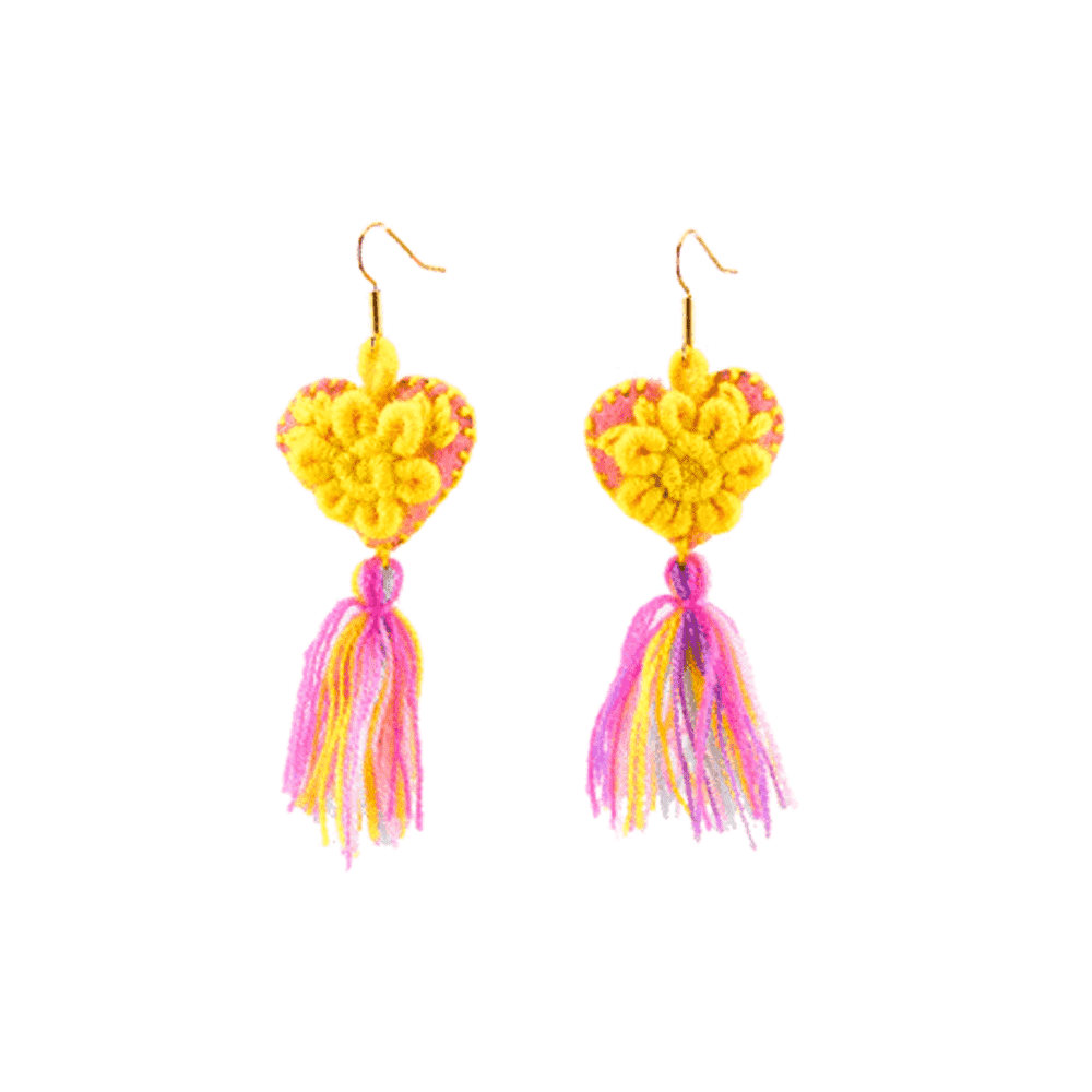 The Love-ly Earrings in You are My Sunshine- Medium - Josephine Alexander Collective