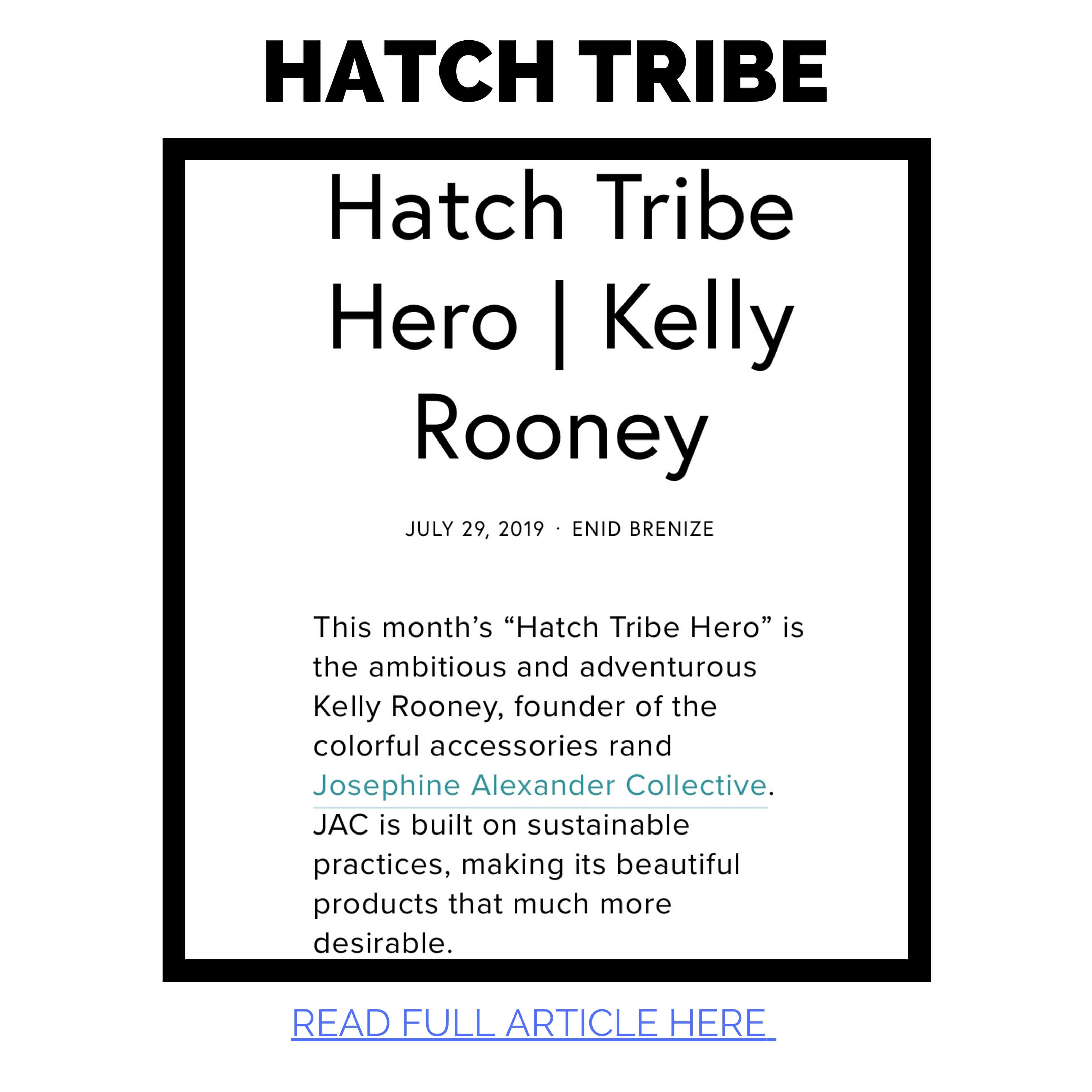 Kelly Rooney geo of JAC featured in Hatch Tribe
