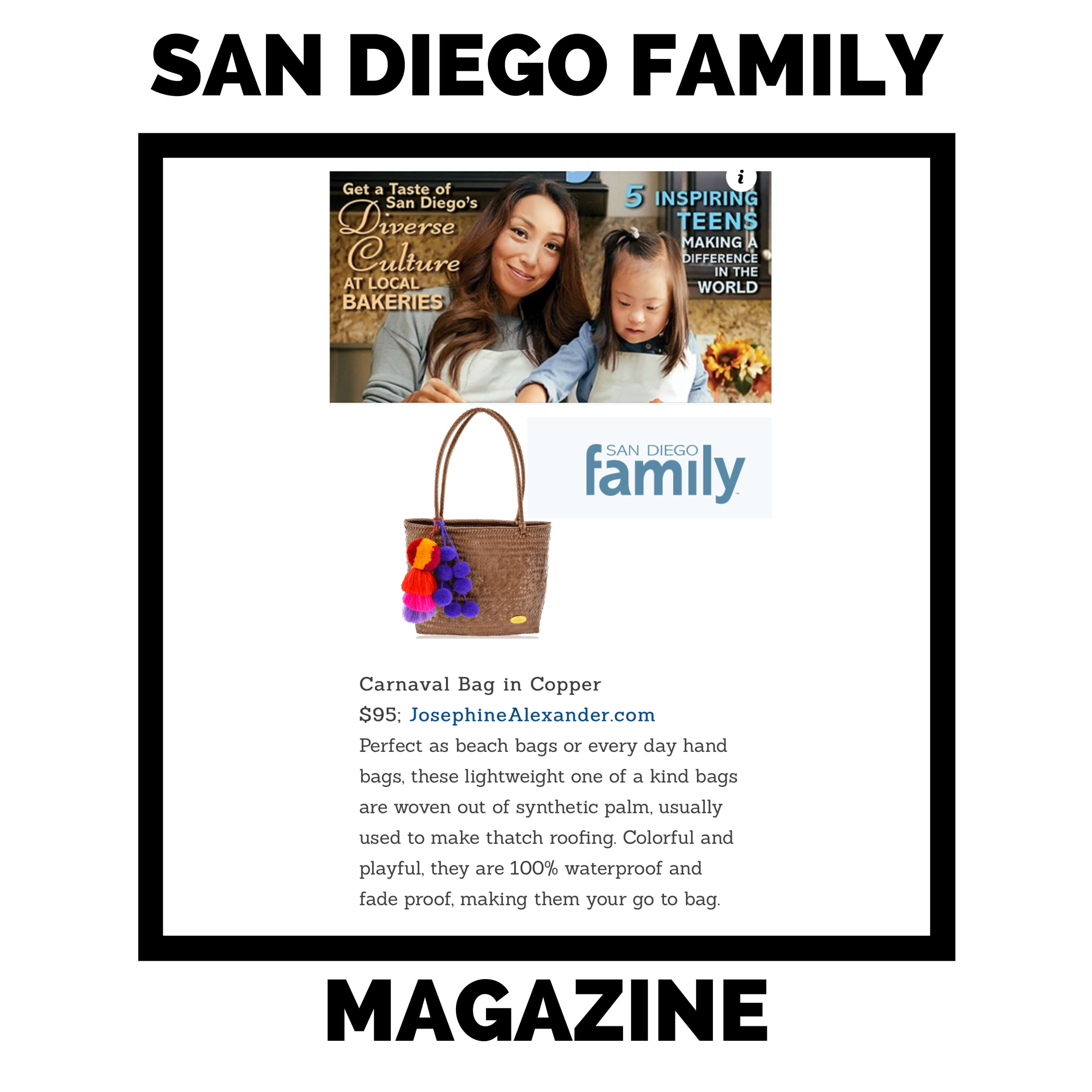 JAC featured in San Diego Family.