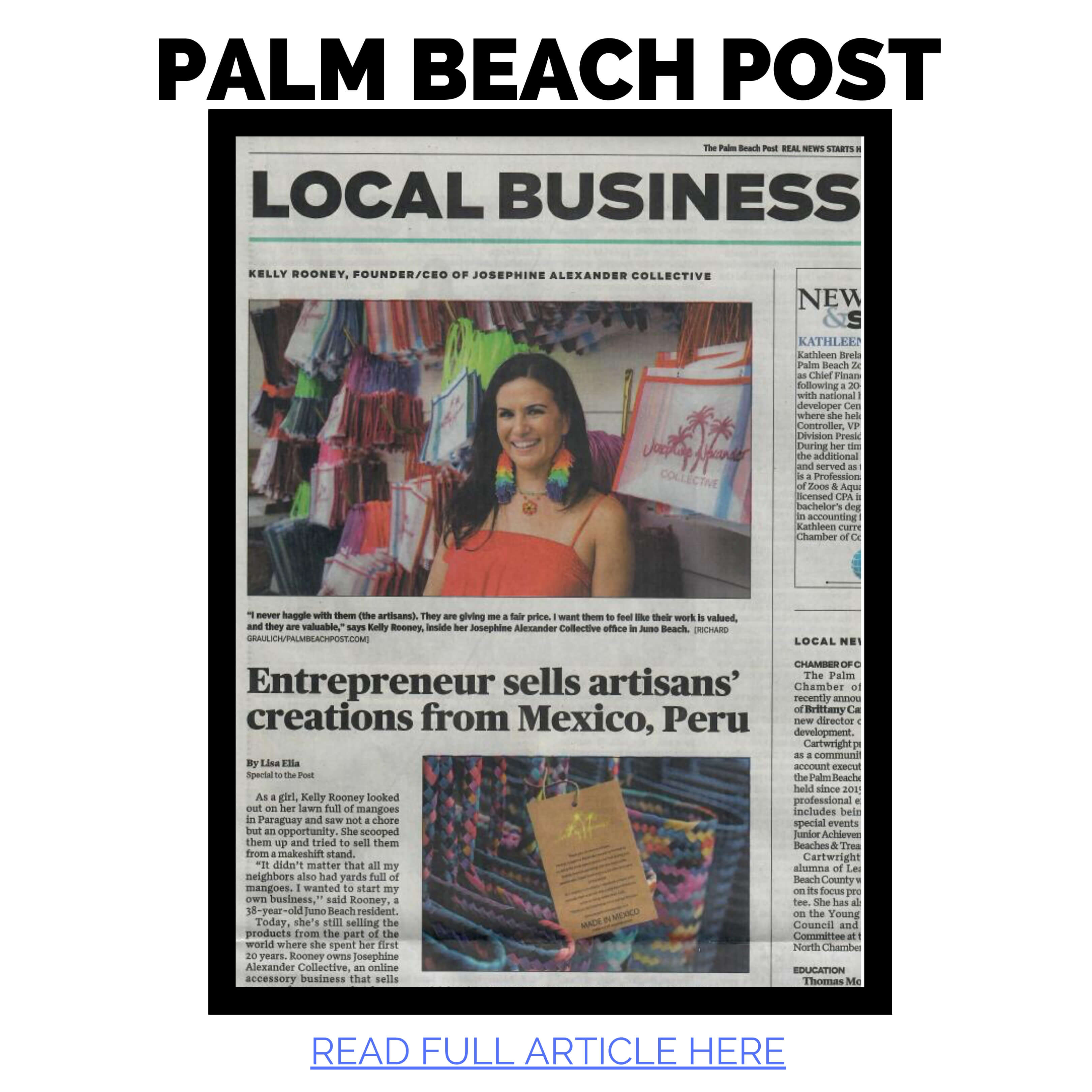 JAC featured in Palm Beach Post