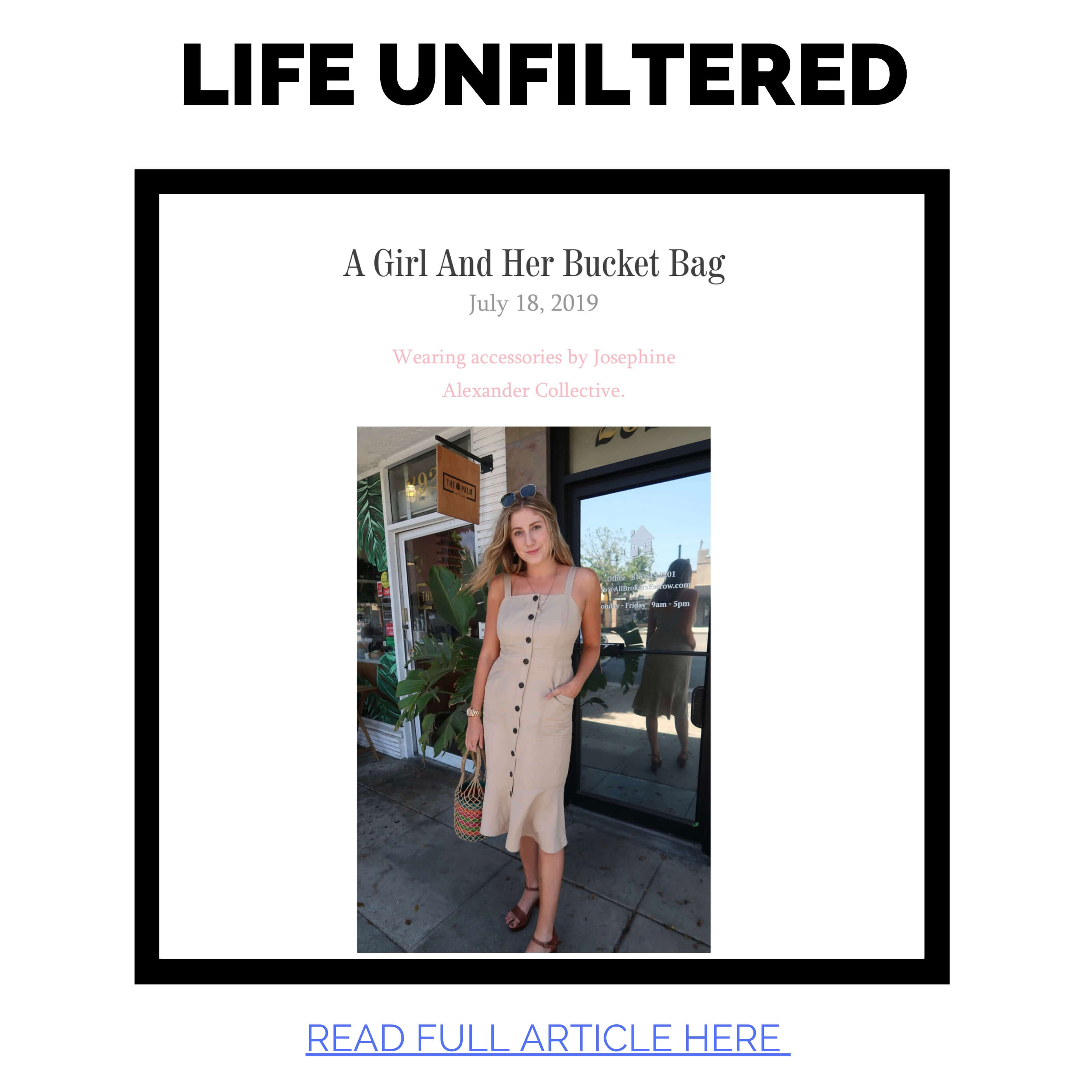 JAC featured in Life Unfiltered