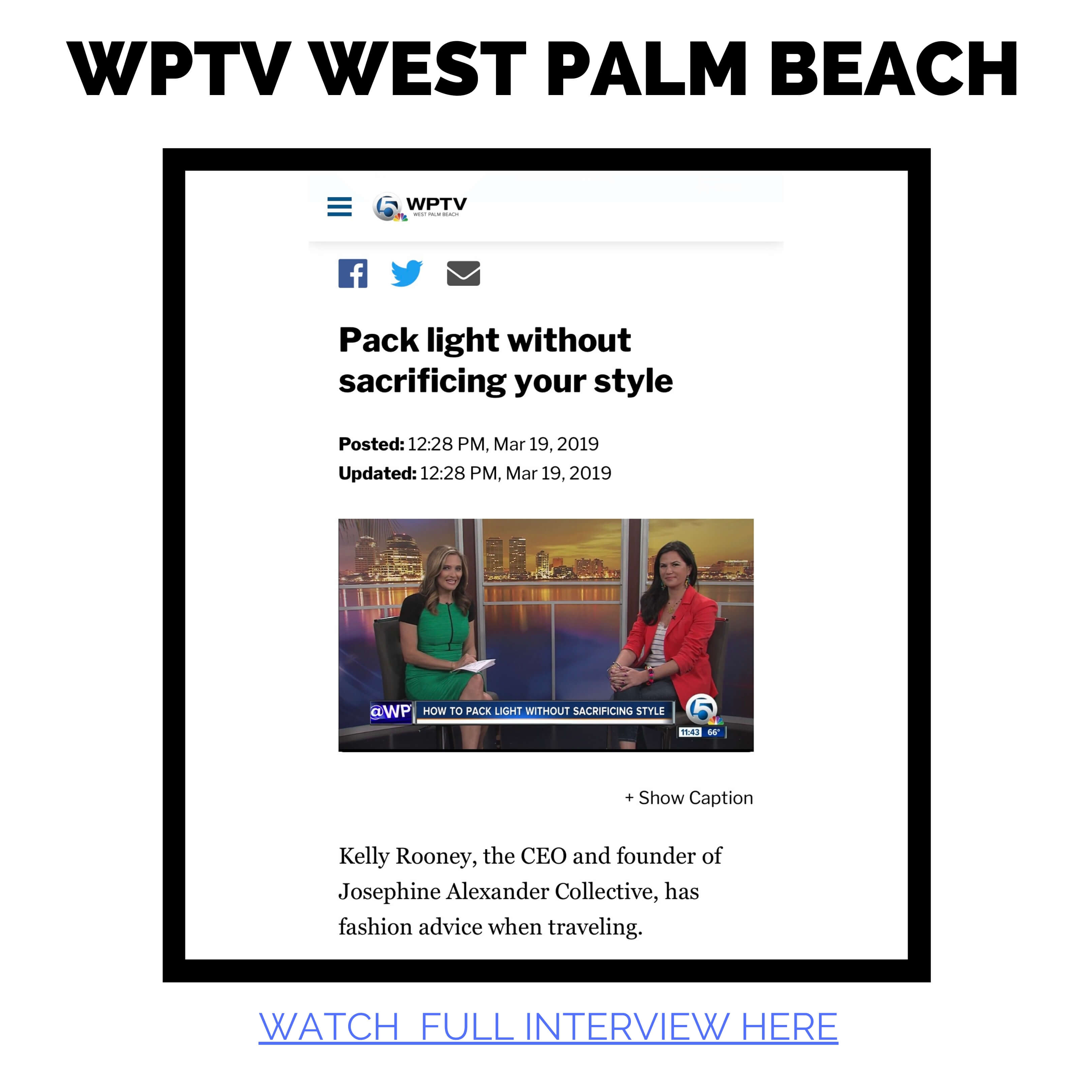 Kelly Rooney CEO of JAC featured on WPTV