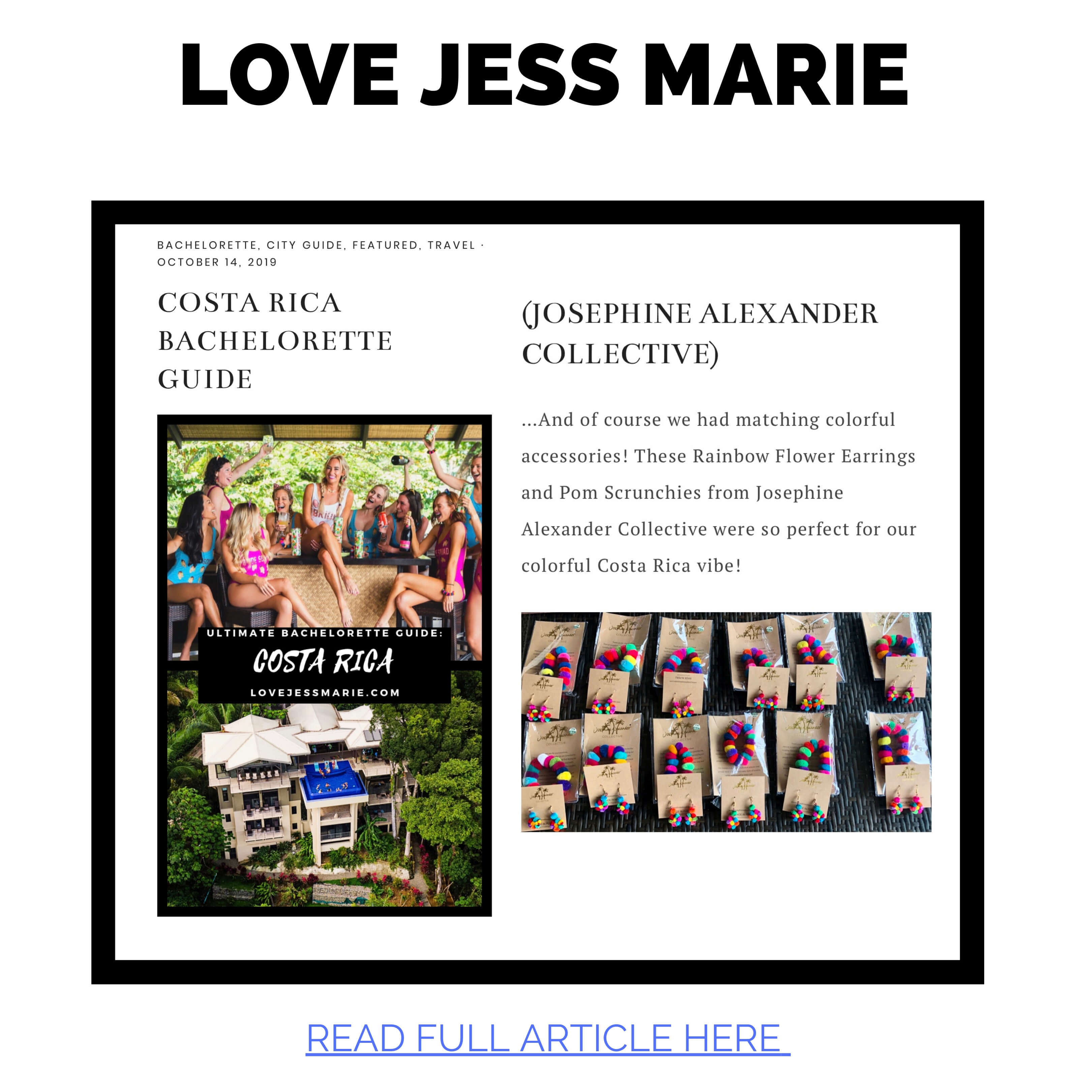 JAC featured in Love Jess Marie