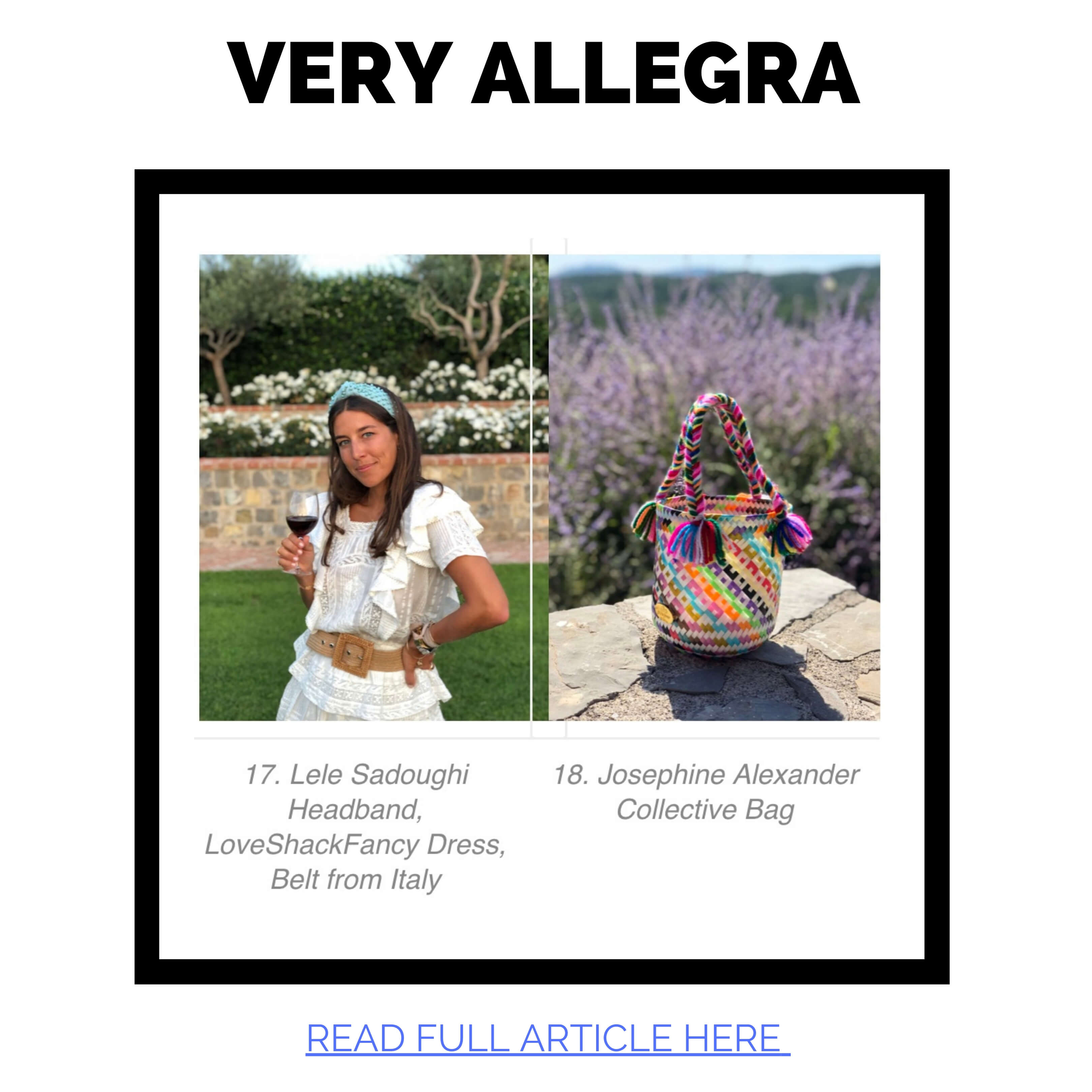 JAC Featured in Very Allegra