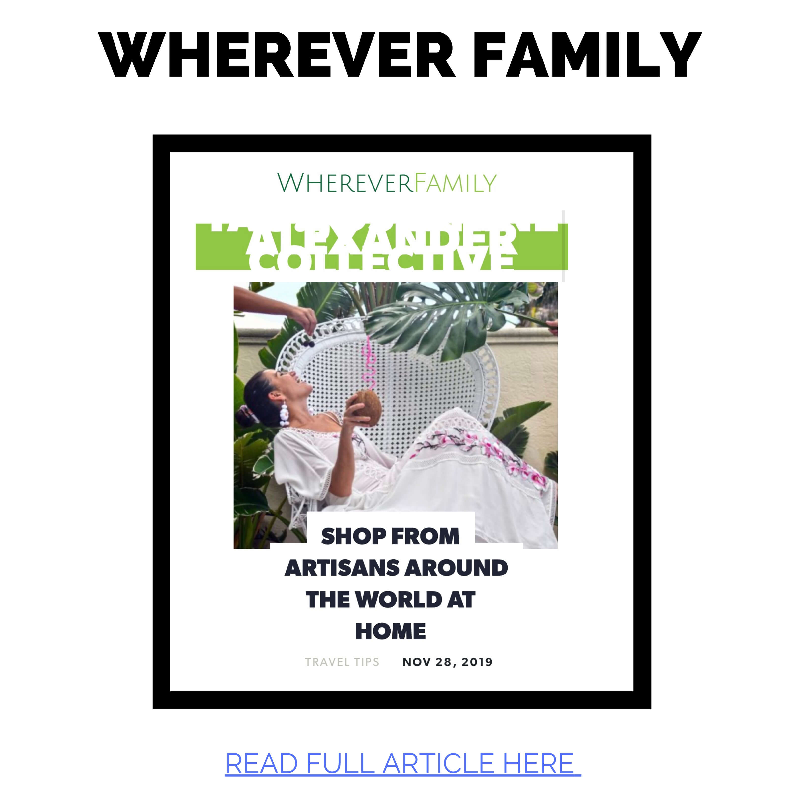JAC featured in Wherever Family