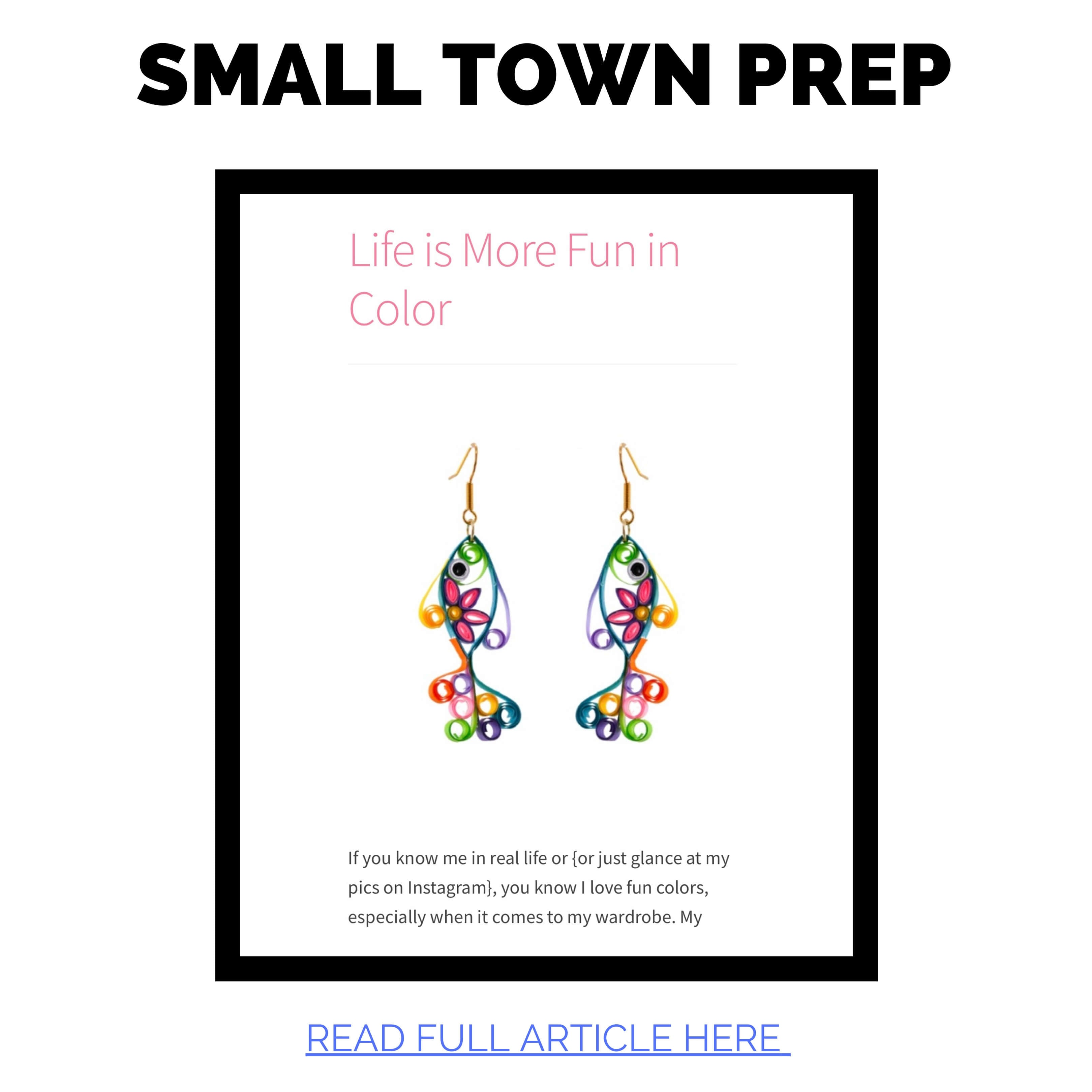 JAC featured in Small Town Prep