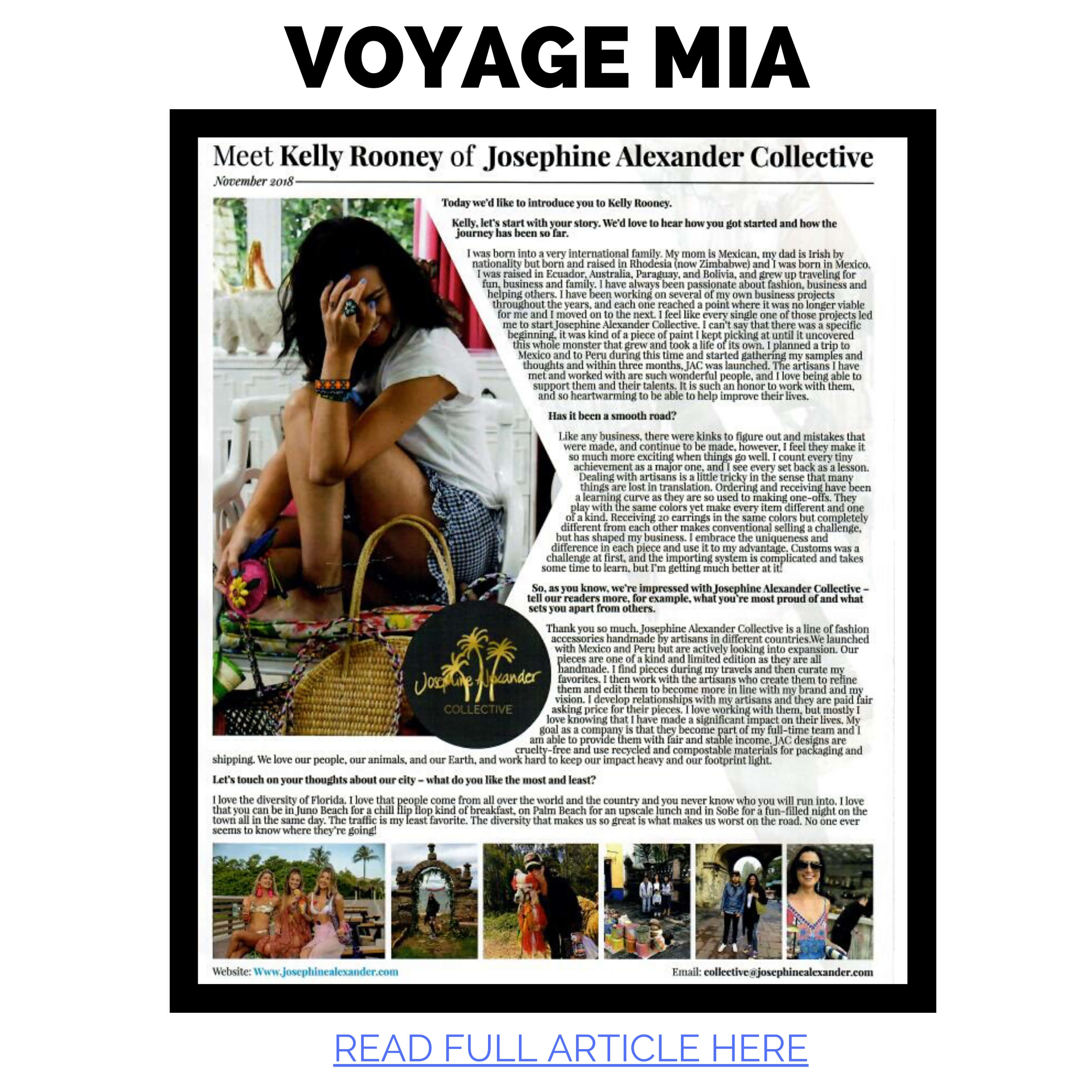 JAC featured in Voyage Miami