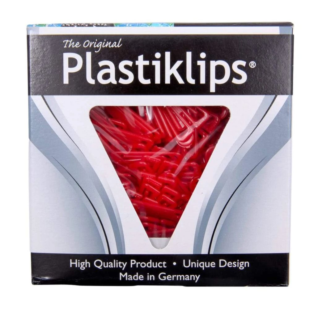 Medium Plastiklips-RED-LP-0320-Qty 3000-6 boxes of 500