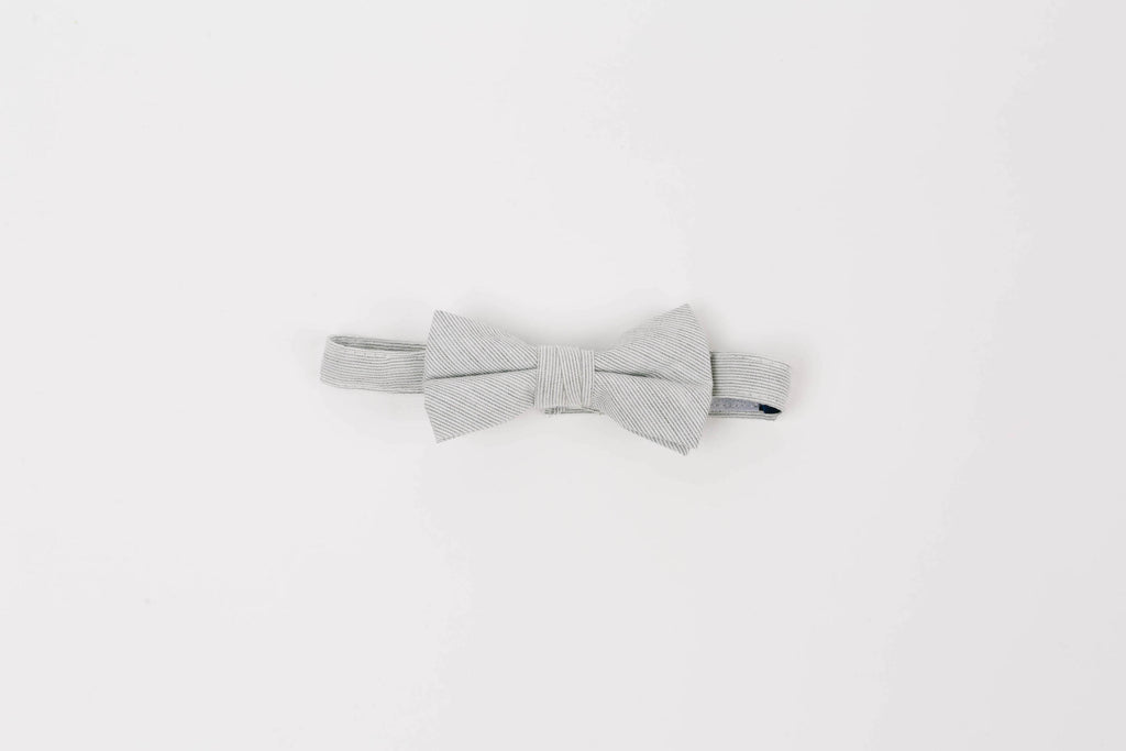 modern grey baby bowtie, grey matching wedding accessories, grey baby bow tie with velcro closure