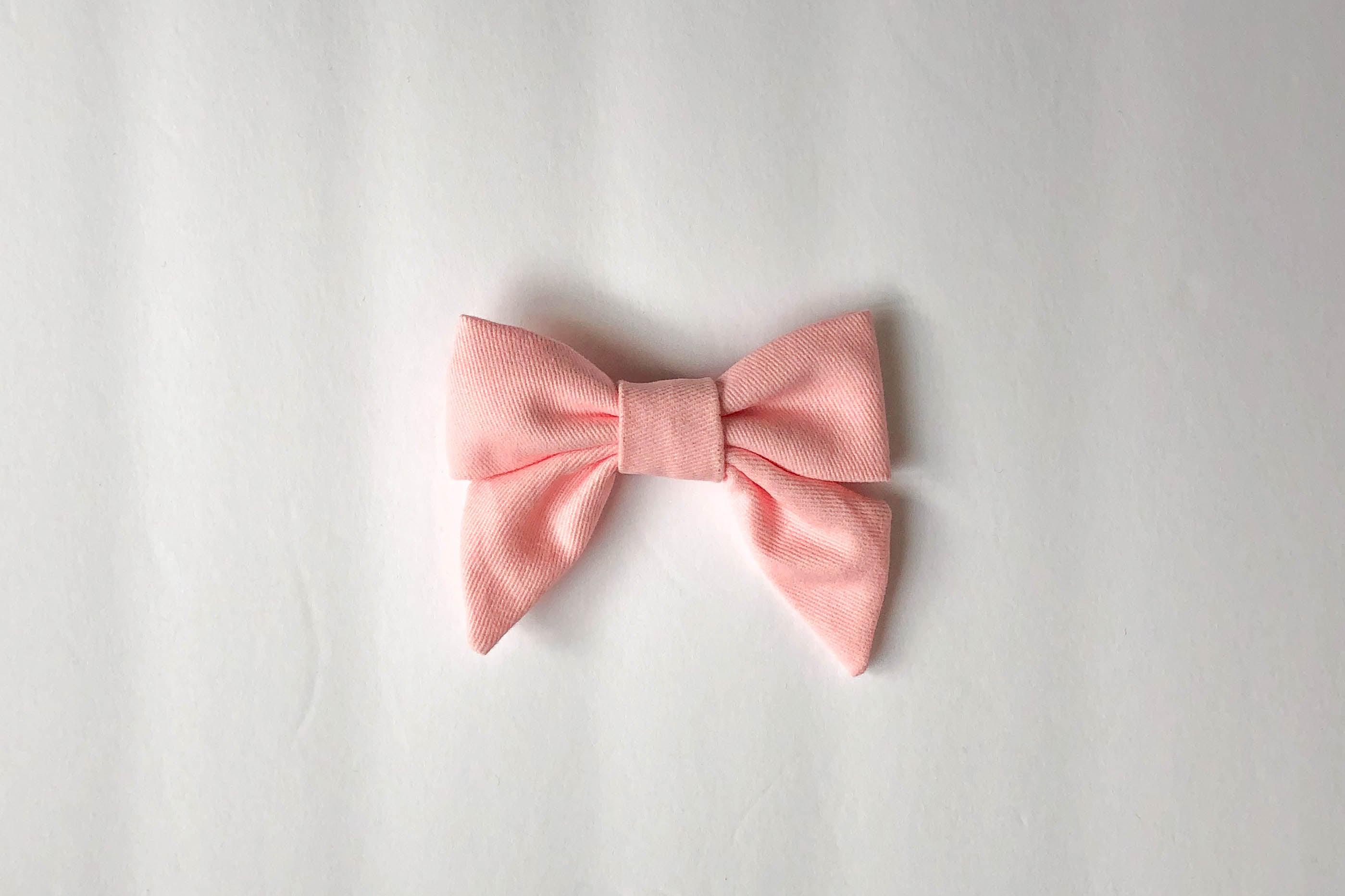 Pink baby hair bow, chunky sailor bow, matching tie and baby hair bow, toddler pink hair bow, alligator clip