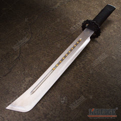"22"" Steampunk Hunting Tactical Machete Knife with Sheath"