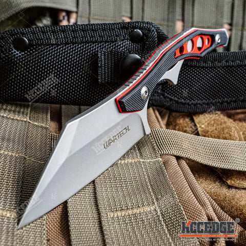 "Tactical Knife Hunting Knife Survival Knife 7.25"" Fixed Blade Knife with Hybrid Blade Camping Accessories Camping Gear Survival Kit Survival Gear Tactical Gear"