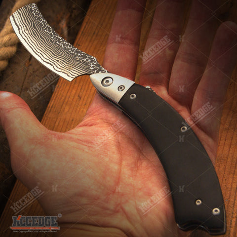 "10"" BUCKSHOT RAZOR BLADE Stainless Steel Blade Pocket Folding Knife"