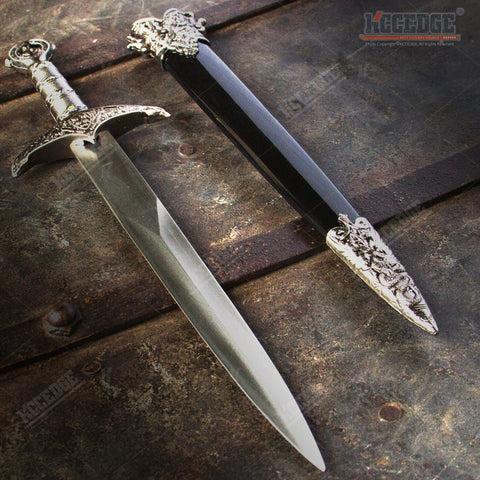 "17.5"" Medieval Serpent Crusader Dagger with Stainless Steel Blade"