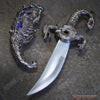 "Image of 10"" INLAY FANTASY DRAGON DAGGER Blade Knife Collectible Dagger Knife Home Decor"