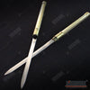 Image of 25 Inch 2 in 1 Double Bladed Ninja Sword Staff Spear Short Sword