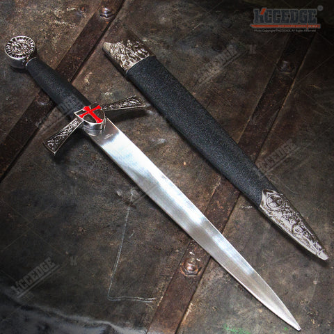 "16"" Knight's Templar Medieval Dagger with Stainless Steel Blade"