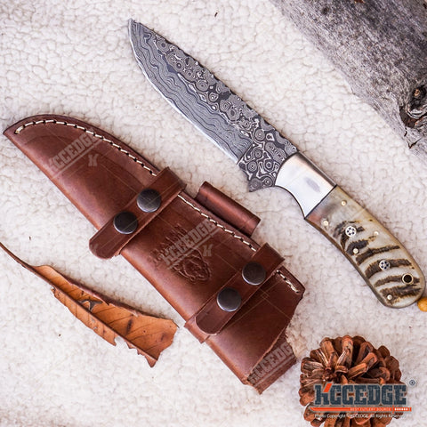 "10"" HANDMADE FIXED BLADE High End Classic Hunting Knife 250 folded layers twist"