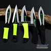 "Image of 3PC 6.5"" Throwing Knife Set with Sheath Ninja Kunai Survival Combat Technicolor"