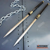 "Image of 2 IN 1 TWIN BLADES 33"" Samurai Ninja KATANA DUAL SWORD SET Interlocking Japanese"