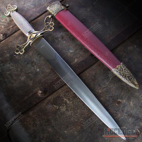 "16"" Freemasons Masonic Medieval Dagger with Stainless Steel Blade"