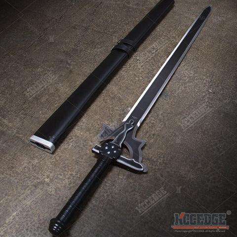 "1:1 LARGE ADULT SIZE 41"" SAO Kirito Elucidator Sword Art Online / Dark Repulser / Lambent Light Asuna Yuuki Rapier Metal Sword"