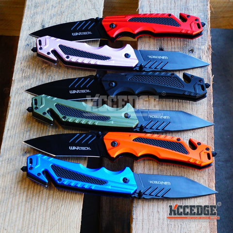 "6PC COMBO KNIFE SET 8.125"" TANTO Tactical Knife Survival Pocket Folding Outdoor"