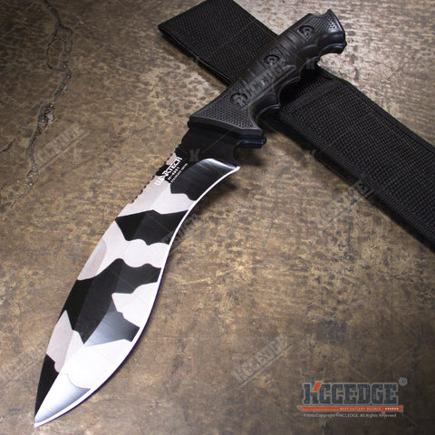 "13.5"" Tactical Camping Hunting Survival Army Camo Knife"