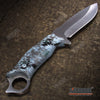 "Image of 14 3/4"" HUGE BAYONET RAMBO TACTICAL JUNGLE SURVIVAL KNIFE Chrome Serrated SAWBACK Fixed Blade Glass Breaker +Sheath"