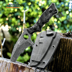"5.75"" Full Tang Karambit Tactical Fixed Blade Knife w/ Kydex Sheath And G10 Handle Scales"