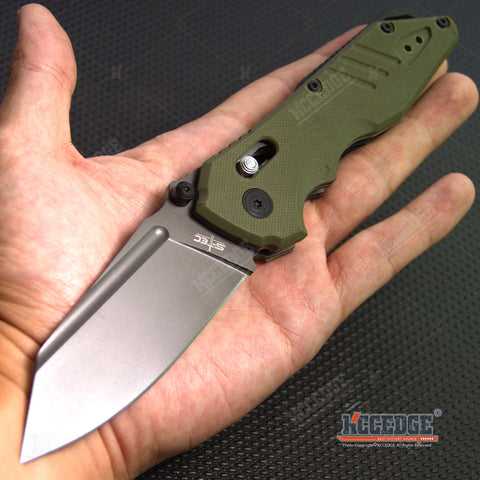 "8.5"" Tactical Folding Knife 8cr14 Blade w/ G10 Handle Ambidextrous Symmetrical Blade Lock"