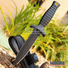 "Image of 7"" TACTICAL COMBAT BLACK BOOT KNIFE Spear Point Hunting Military Fixed Blade Knife w/Nylon Sheath"
