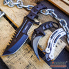 Image of 3PC CSGO COMBO KARAMBIT + Dull Balisong Practice Knife + Huntsman Jungle knife