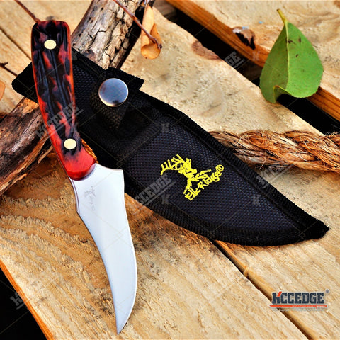 "7"" ELK RIDGE SKINNING FIXED BLADE KNIFE Fishing Outdoor Razor HUNTERS SURVIVAL Full Tang Knife w/ Sheath 6 Colors To Choose"