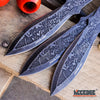 "Image of 3PC 6 1/2"" Ninja Kunai Throwers Etched Samurai Warrior Bushido Survival Hunting"