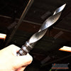 "Image of 10"" HANDMADE REAL DAMASCUS STEEL CYCLONE FIXED BLADE Hunting Knife 250 folded layers"