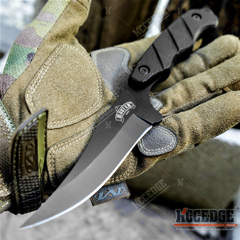 "9"" Full Tang Tactical Fixed Blade Knife w/ Pressure Retention Sheath"