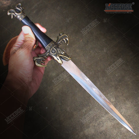 "16"" Medieval Dragon King Dagger with Stainless Steel Blade"