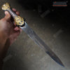 "Image of 14.5"" Egyptian Dagger Full Metal Construction with Highly Decorated Parts"