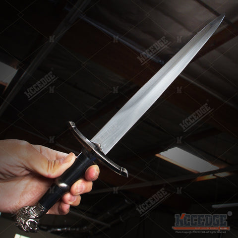 "16"" Medieval Lion Head King Dagger with Stainless Steel Blade"