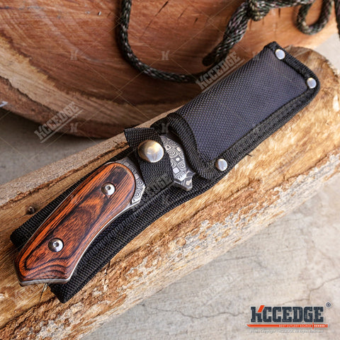 "8.75"" FIXED BLADE CLEAVER KNIFE FOREST HUNTING BUCKSHOT RAZOR CLEAVER Blade w/ Sheath"