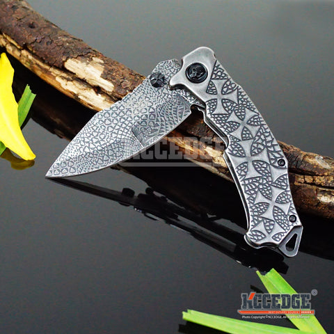"4 COLORS 9.5"" 4MM COMBAT CAMPING HUNTSMEN TITANIUM COATED ETCHED Razor Blade TITANIUM COATED Handle Pocket Folding Knife"