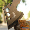 "Image of 11"" COMBAT OUTDOOR TOMAHAWK GUT HOOK THROWING AXE Tactical Battle Hatchet Hunting Hex Hole Zombie Survival Ax"