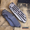 Image of 2 PC OUTDOOR EDC TACTICAL Assisted Open Buckshot TANTO Folding Pocket Knife + Buckshot Cleaver RAZOR Blade Gift Set